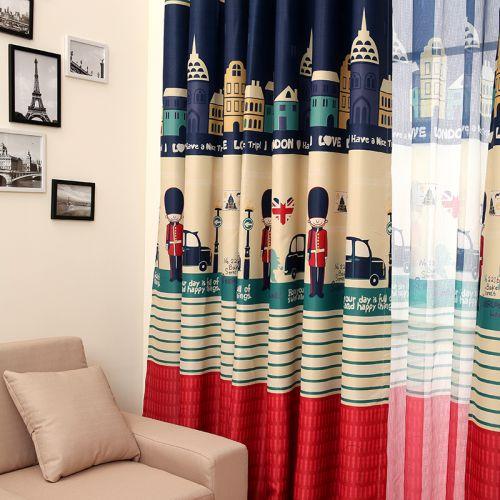 现代简约儿童房窗帘装修效果图