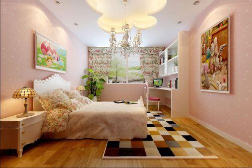 现代简约四居室儿童房壁纸装修效果图欣赏