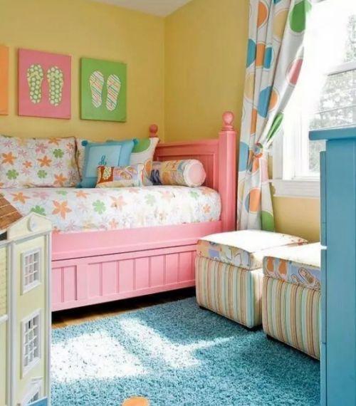 可爱糖果色现代儿童房装修效果图