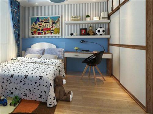 现代简约四居室儿童房窗帘装修效果图