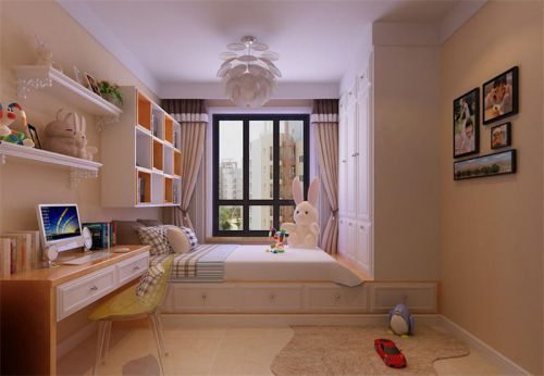现代简约二居室儿童房榻榻米装修效果图
