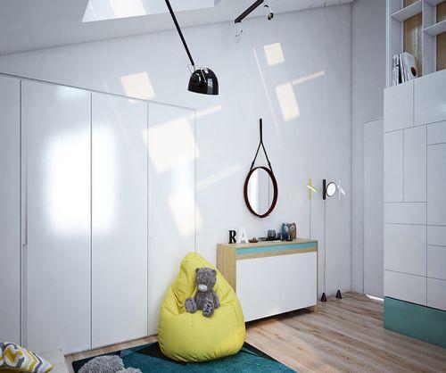 白色空间现代风格儿童房装修效果图