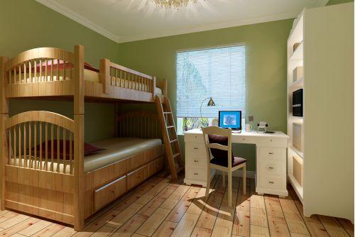 现代简约二居室儿童房床装修图片
