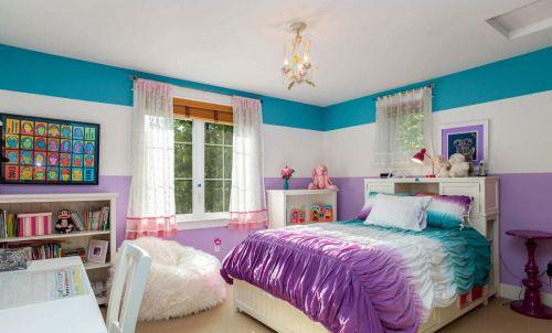 唯美现代风格彩色儿童房装修效果图