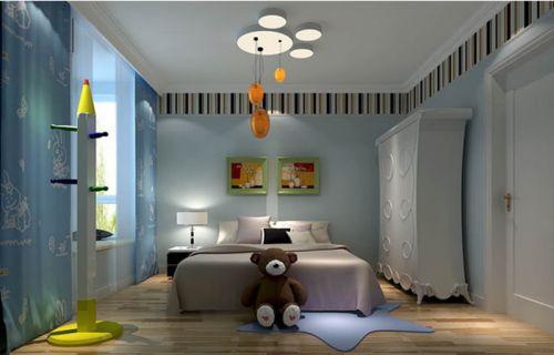 现代简约二居室儿童房照片墙装修效果图大全