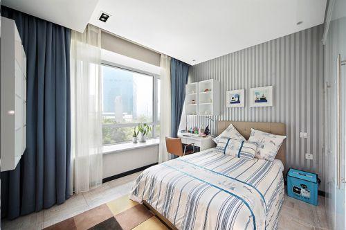 現代簡約三居室兒童房飄窗裝修效果圖