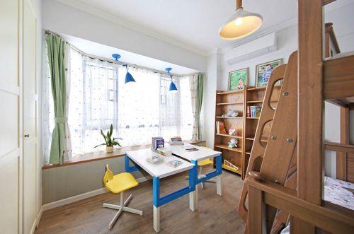 现代简约三居室儿童房榻榻米装修图片