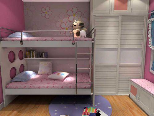 现代简约二居室儿童房书架装修效果图欣赏
