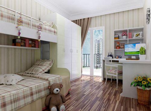 现代简约三居室儿童房飘窗装修效果图