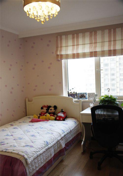 现代简约二居室儿童房窗帘装修效果图