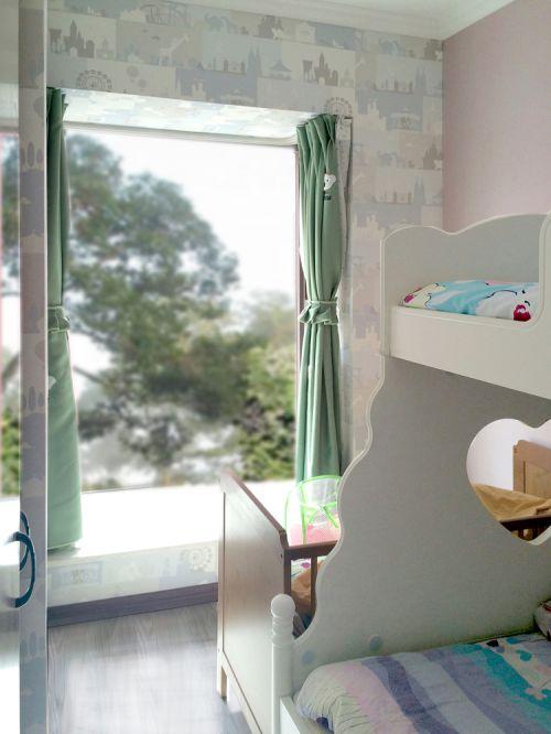 现代简约二居室儿童房飘窗装修图片