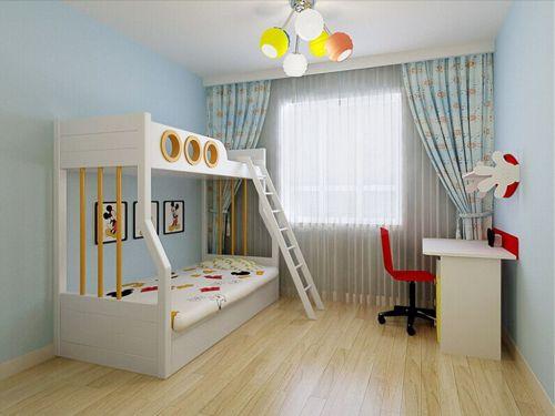 现代简约三居室儿童房壁纸装修图片