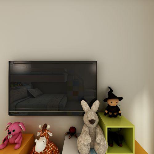 现代简约三居室儿童房照片墙装修效果图大全