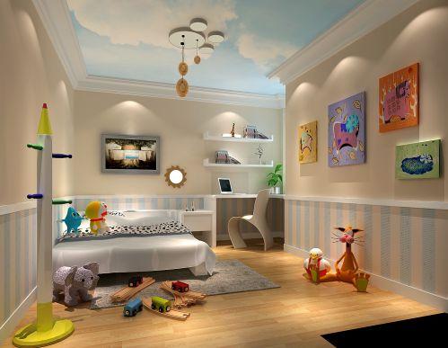 现代简约二居室儿童房灯具装修效果图