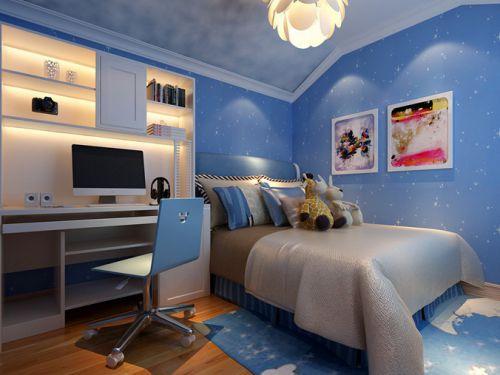 现代简约四居室儿童房窗帘装修图片