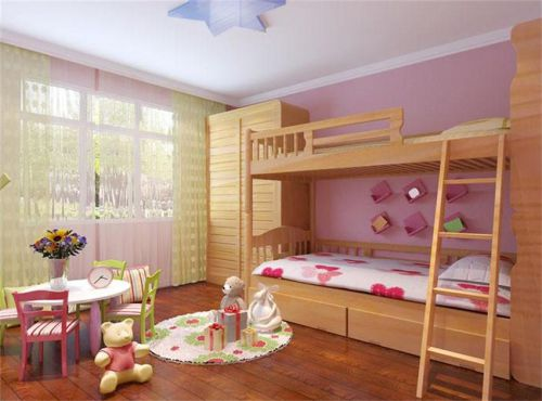 現代簡約四居室兒童房飄窗裝修效果圖