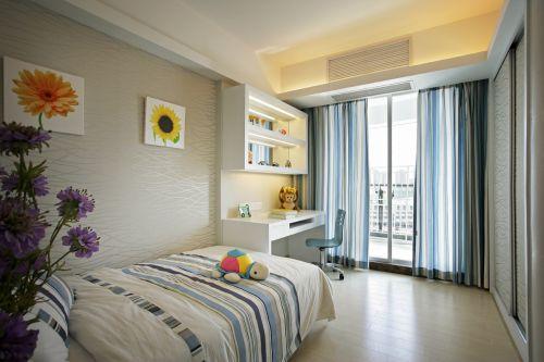 现代简约三居室儿童房飘窗装修效果图大全