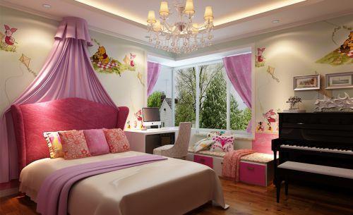 现代简约三居室儿童房床头柜装修图片