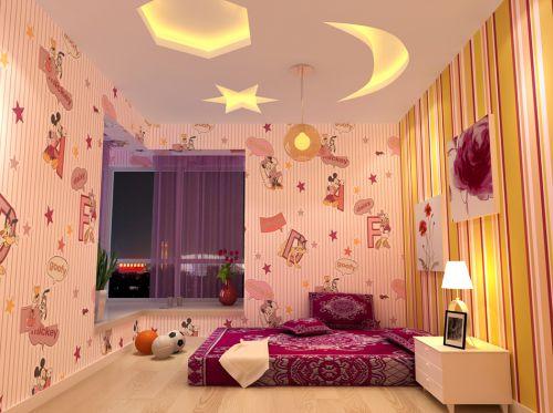 現代簡約四居室兒童房飄窗裝修效果圖大全