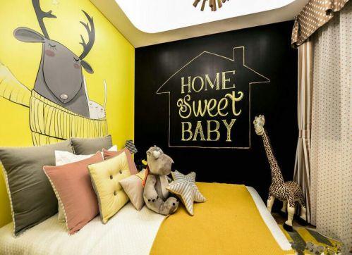 現代簡約二居室兒童房飄窗裝修效果圖大全