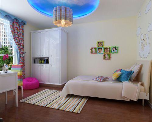现代简约二居室儿童房婴儿床装修效果图