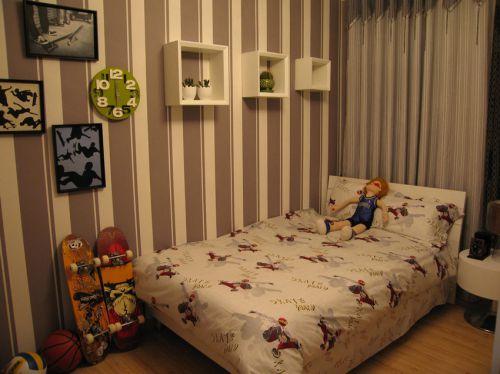 现代简约一居室儿童房装修图片