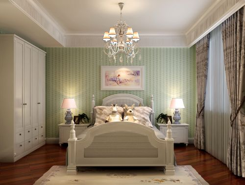 现代简约三居室儿童房窗帘