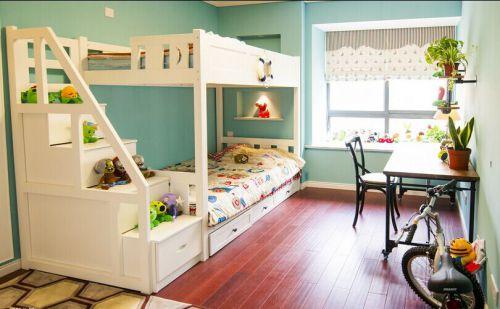 現代簡約三居室兒童房飄窗裝修效果圖欣賞