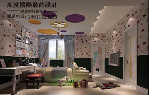 现代简约四居室儿童房吊顶装修效果图大全