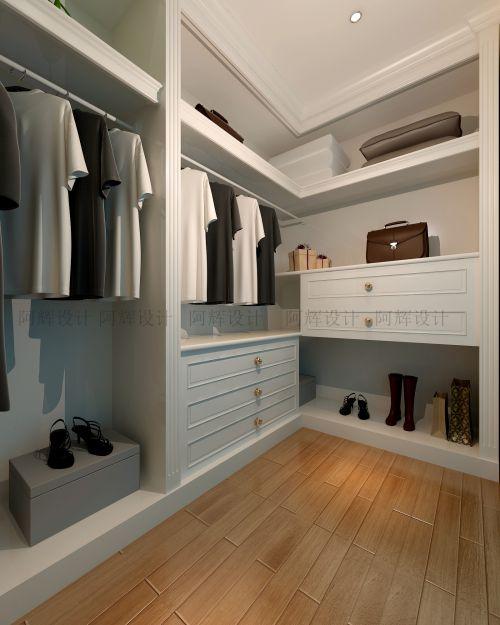 现代简约二居室衣帽间装修图片