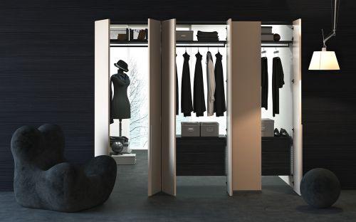 现代风格黑色衣帽间装修效果图