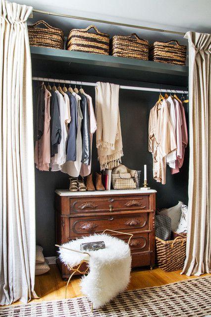现代简约欧式风格四居室衣帽间储物柜欣赏