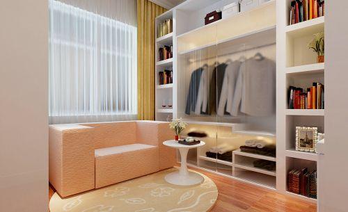 现代简约三居室衣帽间衣柜装修效果图大全