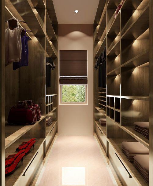 现代简约三居室衣帽间床头柜装修图片