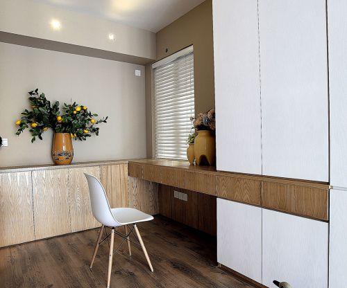 现代简约二居室书房窗帘装修图片