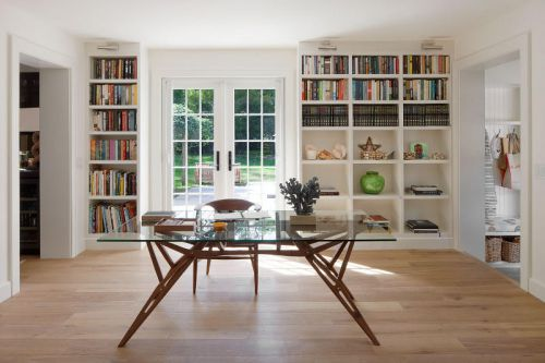 时尚大气现代风格书房书架装修图片
