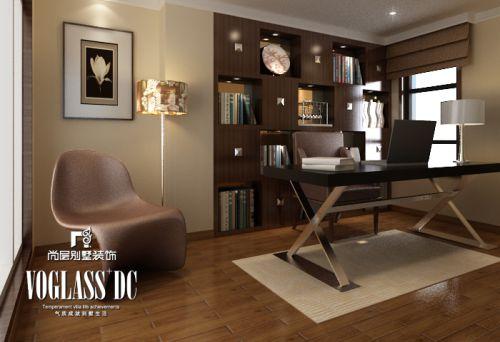 现代简约四居室书房装修效果图欣赏