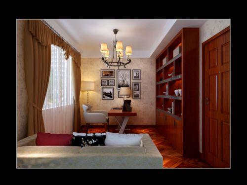 现代简约一居室书房装修效果图大全