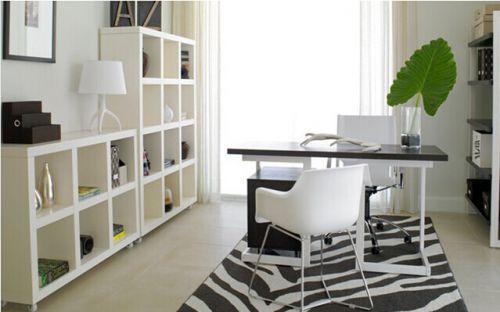 现代简约二居室书房储物柜梳妆台装修效果图欣赏