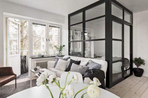 现代简约二居室书房沙发装修效果图