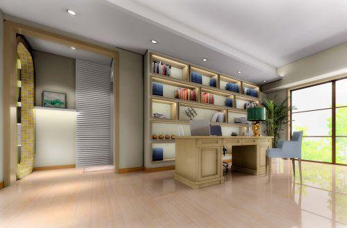 现代简约六居室以上书房装修效果图