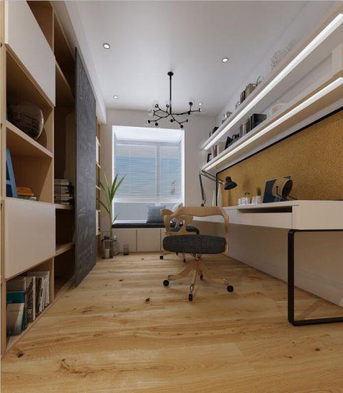 現代簡約二居室書房飄窗裝修效果圖大全