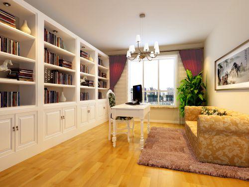 现代简约三居室书房吊顶装修效果图