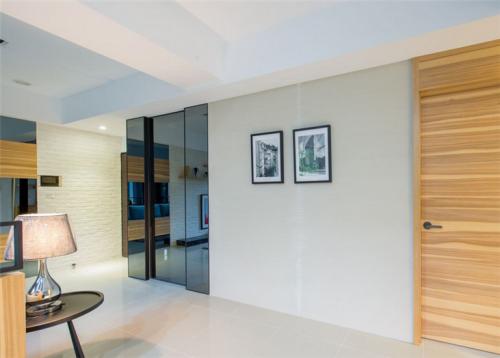 现代简约三居室书房背景墙装修效果图大全