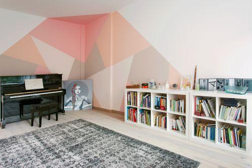 文艺现代风格书房书柜装修实景图