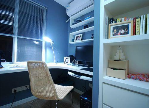 现代简约二居室书房书柜装修图片