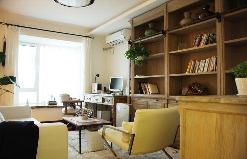 现代简约四居室书房飘窗装修效果图欣赏