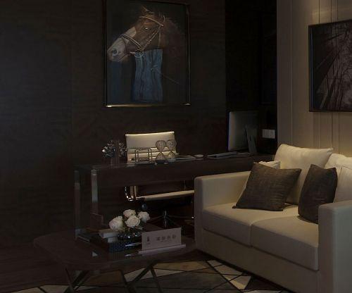 现代简约一居室书房壁纸装修效果图欣赏