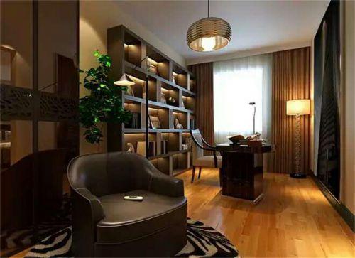 现代简约四居室书房灯具装修图片