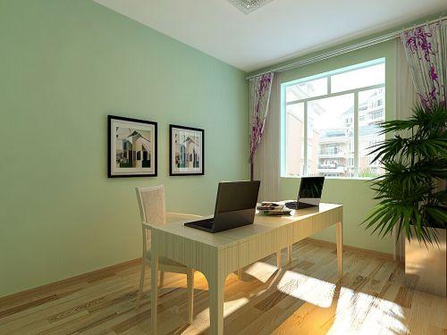 现代简约一居室书房飘窗装修效果图欣赏